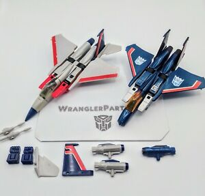 Vintage Transformers 1985 G1 Starscream & Thundercracker For Repair & Parts Lot