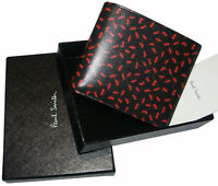 PAUL SMITH LEATHER BIFOLD RED ANTS PRINT WALLET BRAND NEW BOXED made in Italy