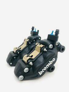 pair front black brake brembo calipers ducati guzzi aprilia 65 mm INCLUDING PADS
