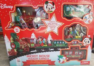 Disney Mickey Mouse Holiday Express 36 Piece Collectors Edition Christmas Train