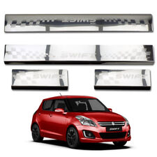Stainless Door Scuff Plate Stainless Fits Suzuki Swift Hatchback 2012 2016