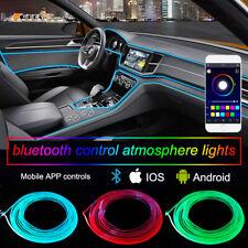 6in1 Car Interior Atmosphere Light 8M Neon Strips APP Bluetooth Controller RGB