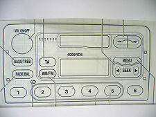 Ford - 2000/3000 Traffic & 4000 - Radio Operating Manual Instruction Audio Book