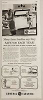 1951 Print Ad GE General Electric Food Freezers for Farm Families