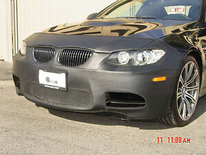 Colgan Front End Mask Bra 2pc. Fits BMW M3 2008-2012  W/Lic. Plate, W/O Washer