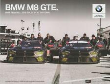 2018 Rahal Letterman Lanigan BMW M8 GTE GTLM Rolex IMSA WTSC postcard