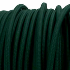 BRITISH RACING GREEN vintage style textile fabric electrical cord cloth cable