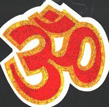 Colourful Aum Glitter Sticker – Adhesive Sticker –  Hindu Religious Sticker