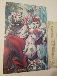 SIGNeD Basaldua +2 Grimm Fairy Tales Snow Queen Heavy Metal Exclusive Zenescope