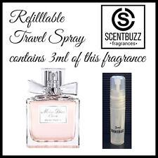 Miss Dior Cherie by CHRISTIAN DIOR Womens EDT -- 3ml Perfume Sample Travel Spray