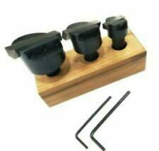 "Fly Cutter Holder Set Of 3 pcs With ½"" Shank HSS Square Tool Bit Wooden Stand"