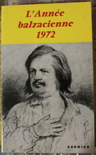 L'ANNÉE BALZACIENNE 1972