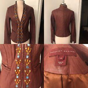 MARGARET GODFREY Leather Jacket - Sz