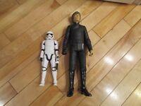 """Lot 2 18"""" JAKKS Luke Skywalker and 12"""" Hasbro Stormtrooper Star Wars Figures"""