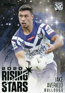 2021 NRL Traders Rising Stars Parallel Canterbury Bulldogs Jake Averillo RSP03