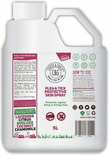 FLEA & TICK SPRAY FOR DOGS BEST ORGANIC NATURAL PEST PROTECTION ADDED 5 LITRE