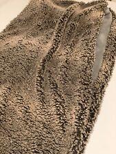 Pottery Barn Kids Brown Faux Fur & Gray Velvet Throw Warm Cozy Blanket