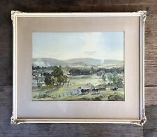 VINTAGE FRAMED HANS HEYSEN LITHOGRAPH PRINT -'AFTERNOON IN AUTUMN'