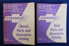 New Listing1938-1967 Chevrolet Body and Chasis Parts and Accessories Catalog Bowtie 2 Books (Fits: Truck)