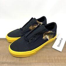 Vans Old Skool National Geographic Shoes, Black Yellow Size Men's 5 Women's 6.5