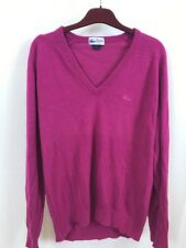 Lacoste L Women's Fuscia Sweater Purple V-neck