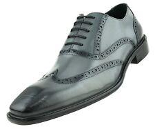 Mens Dress Shoes, Lace-Up Wingtip Genuine Leather Shoes for Men, Men's Oxfords