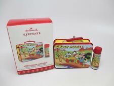 2017 Hallmark Mini Lunch Box Mickey Mouse Ornament with Thermos in Original Box