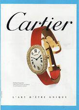 BELLEU996-PUBBLICITA'/ADVERTISING-1996- CARTIER BAIGNOIRE OROLOGIO