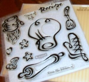 CTMH D1214 SPICE OF LIFE~  Sifter, Oven glove & mitt, Recipe, Rolling pin