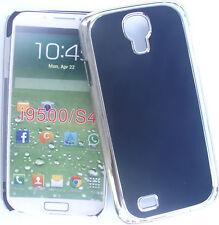 Coque rigide bel aspect métal argenté lisse pour Galaxy S4 , i9500 , Noir