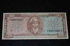 Vietnam War US MPC Military Payment Certificate $20 Twenty Dollars Series 681 VF
