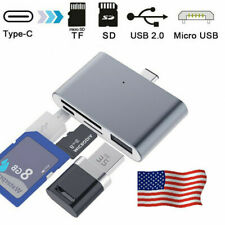 4 in 1 Type C 3.1 to OTG USB Micro SD Memory Card Reader Adapter Metal Aolly US