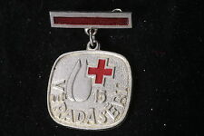 Hungary Hungarian Red Cross Medal 15 Donations Silver Blood Donor Badge