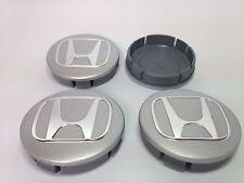 HONDA 4pcs Plastic Wheel Centre Caps with Chromed Emblem 60mm/55mm NEW