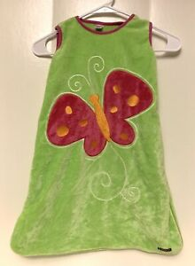 Sozo Infant Sleep Sack 0-6 Months Fluffy Thick Butterfly Bright green Cozy