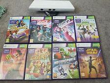 Xbox 360 Kinect White and 8 games