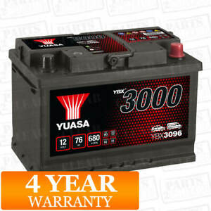 Yuasa Car Battery Calcium 12V 680CCA 76Ah T1 For Honda CR-V MK 4 2.2 i-DTEC 150