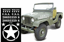 Set Army Sticker for Jeep Wrangler USMC Military Decal gun tank mount shovel tj