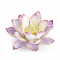 Jay Strongwater Kamal Lotus Table Objet 14K Gold, Swarovski  SDH1946-256 NEW