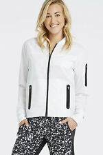 Fabletics Sport-Jacke XS 34 Weiß Schwarz Diana Training Jacket White Black w Neu