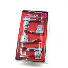 Grover Chrome Titan Heavy Duty 2+2 Bass Guitar Tuners Machine Heads 145C