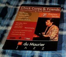 CHICK COREA REMEMBERING BUD POWELL ORIGINAL CONCERT POSTER VANCOUVER 031797