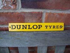 Dunlop Schild Garage Schwer Aluminiumguss Herstellung Beendet VAC137
