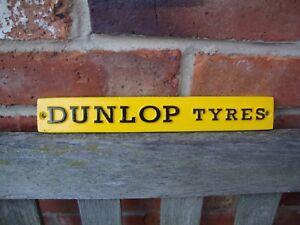 Dunlop sign Garage Sign heavy cast aluminium discontinued VAC137