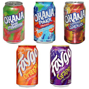 OHANA, FAYGO DIFFRENT FLAVOUR ENGRY DRINKS 355ML TINS - SODA CANS