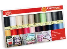 GUTERMANN SEW ALL THREAD SET - VARIOUS BASIC COLOURS 20 x 100m REELS -SEWING