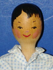 "Alice M.Wainwright Polly Shorrock 7"" LITTLE WOODEN BOY Kit Doll Rowley c1961"