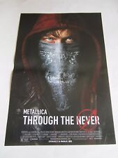"Metallica Through The Never Movie Poster 13.5"" X 20"" Imax 3D Promo Poster New"