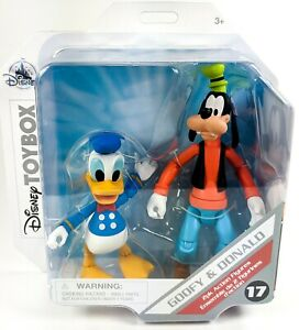 TOY BOX Disney Store Exclusive : Goofy & Donald Duck - Disney Figure - NEW