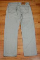 Vintage Levis 501 501-O657 Gray Cotton Denim Button Fly Jeans W 32 x L 30 USA